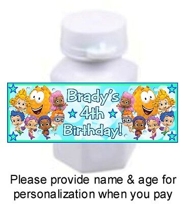 30 Bubble Guppies Birthday Party Bubble Labels Stickers Baby Shower Favors Fish](Bubble Guppies Stickers)