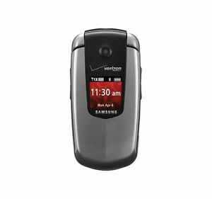Details about verizon samsung u350 smooth flip prepaid phone gray
