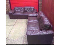 2 X 2 seater leather sofas - can deliver