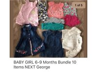 BABY GIRL CLOTHES 6-9 Months very good condition