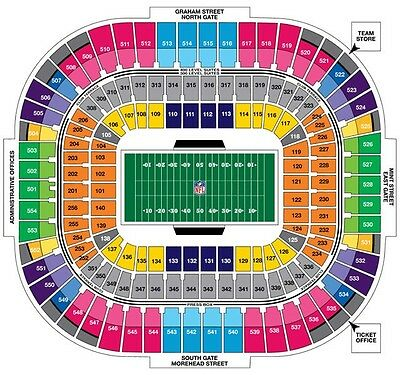 2 Carolina Panthers PSLS - Permanent Seat License - Section 116 Row 10 - Lowers!