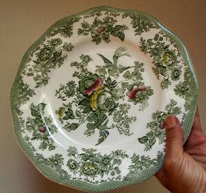 4 antique wedgwood kent turnstall green flowers bird plates