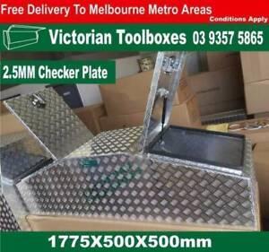 1775x500x500 Aluminium Toolbox Gullwing Top Opening Ute Truck