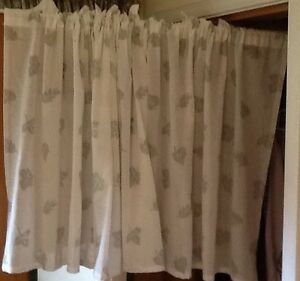 SHORTY CURTAINS & MATCHING SWAG also NEW SHEER PANELS