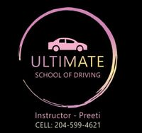 Class 5 driving school - Female instructor