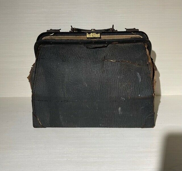 Antique Black Leather Travel Doctor