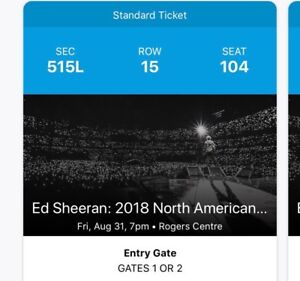 Selling 2 sold out Ed Sheeran 2018 North American Tour Tickets