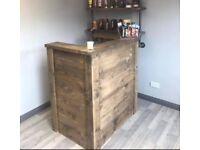 Rustic reception desk