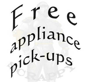 We offer free pick up: scrap metals, appliances and Electronics