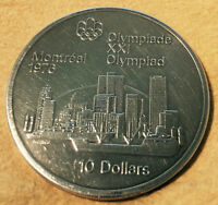 1976 Olympic $10 Silver Coin  Montreal Skyline
