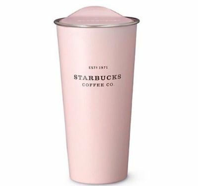 Tumbler Starbucks Travel Pink Mug Oz New Cup Coffee Traveler Stainless Steel 16