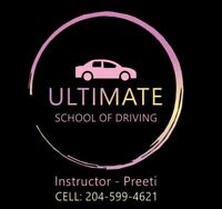 Driving school- Female instructor