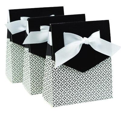 NEW HBH Black & White Tent Favor Boxes 25 pc.