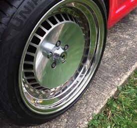Wheels. 5x100 Genuine Schmidt Deep Dish 3 piece splits