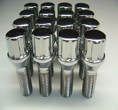 20 Pc BMW SPLINE Chrome Lug Bolts Nuts 14mm x 1.50 .93 Inch Length Part # (Bmw Chrome Lug Bolts)