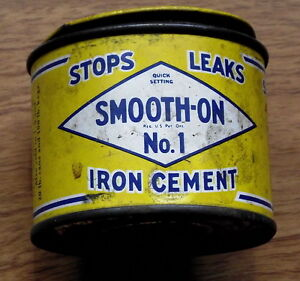 collectable Can of IRON CEMENT-- $5