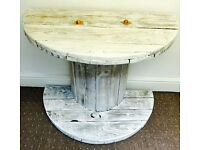 Restored console/side table shabby chic and rustic