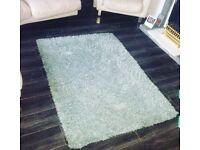 Blue shaggy rug