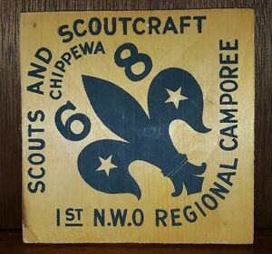Vintage Scouts Canada wood plaque