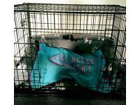 Faux fur dog sofa/bed - grey/medium