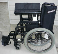 "QUICKIE M6 HEAVY DUTY WHEELCHAIR 22"" SEAT WIDTH GOOD CANDITION"