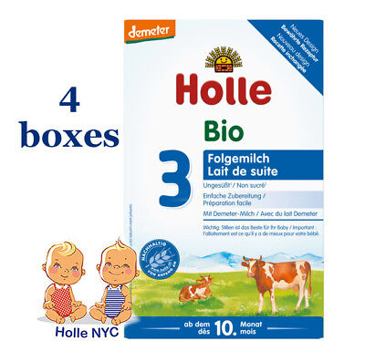 Holle Stage 3 Organic Baby Formula 4 boxes 600g Free Shipping