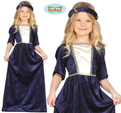 Kinder Mittelalterlich Dame Kostüm Kinder Mädchen Tudor Outfit - Alte Dame Kostüm Kinder
