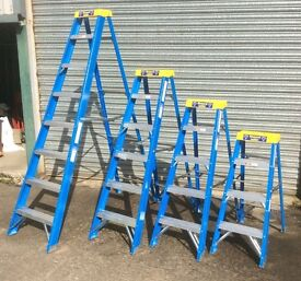 GRP Glassfibre fibre glass Step Ladder from only £35 Trade Electrician etc.