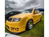 2005 skoda fabia vrs tdi lowered coilovers stanced leather smoothed euro