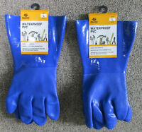 "2 WATERPROOF ""BRUIN"" PVC Gloves, Men's size Large, New with Tags"