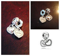 "Brand new ""Sister"" dangle charm set for Pandora bracelet"