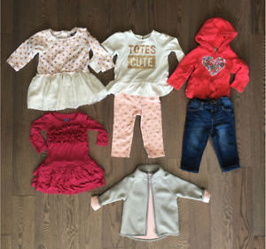 Brand Name Winter Girls Clothing Lot - size 12 months