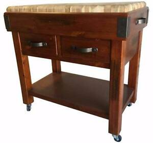 American Rustic Chopping Block w wheels, Solid Timber Only $499 Cheltenham Kingston Area Preview