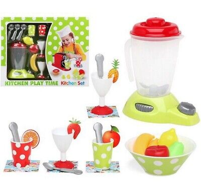 Juguete Set de cocina Batidora de Vaso con accesorios,tazas,cucharas,copas,fruta