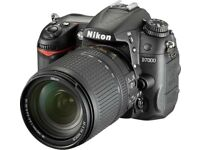 Nikon D7000 + 18-105mm Lens + 70-300mm Lens + Battery Grip