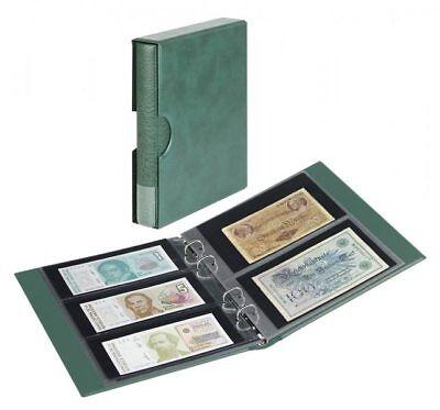 Lindner Banknotenalbum RONDO mit 10 Banknotenblättern, inkl. Schutzkassette, grü