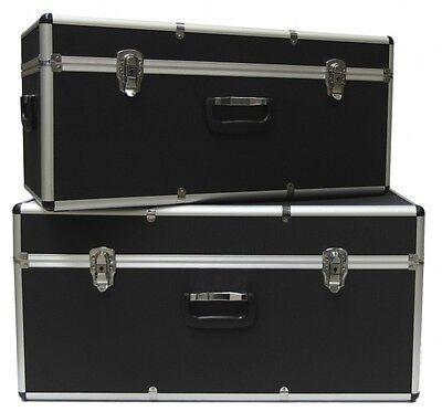 2 x Aluminiumkoffer Transportkoffer Transportbox Lagerbox Alukoffer Alukiste