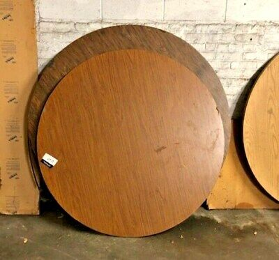 Used Wood Tops Round Banquet Catering Table 60 Walnut