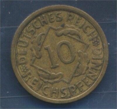 Deutsches Reich Jägernr: 317 1930 G sehr schön 1930 10 Reichspfennig (7879646