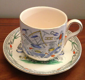 Farmers Arms B&L England Collectors Cup and Saucer