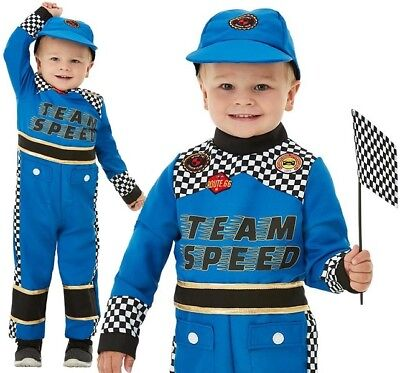 Toddler Racing Car Driver Fancy Dress Costume Boys Race driver Outfit by Smiffys - Race Car Driver Costume Toddler