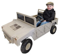 Build this great scale battery humvee kids car for under $150