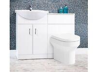 Vanity unit and toilet