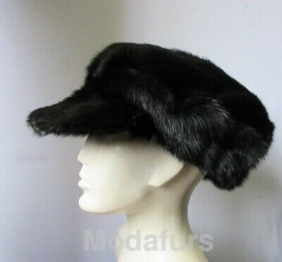 Men's NEW Black Mink Fur Hat Man 23