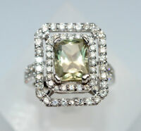 Rare Color Change Diaspore & Diamond Ring, 14K WG, Value $4,500