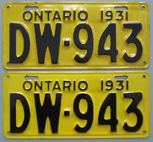 Classic Car YOM License Plates - Ministry Approval Guaranteed! Belleville Belleville Area image 3