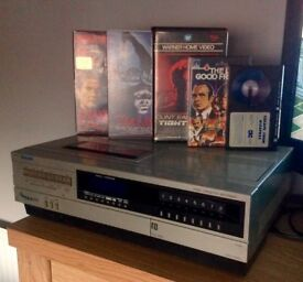 Sanyo VTC 5000 Betamax player, plus 11 tapes