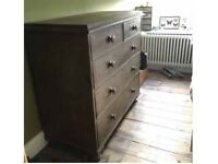 Large vintage chest of draws