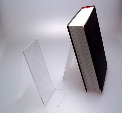 10Stück NEUE Buchständer,Buchstütze,Buchaufsteller,Acrylglas,Warenpräsenter Deko