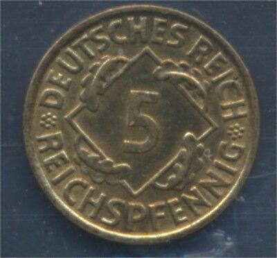 Deutsches Reich Jägernr: 316 1935 J Stgl./unzirkuliert 5 Reichspfennig (7879642